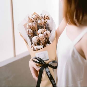 Cotton and Lavender Bouquet