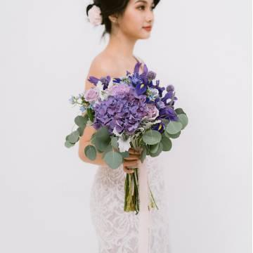 Purple Iris Bridal Bouquet