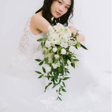 Cascading Lisianthus Bridal Bouquet