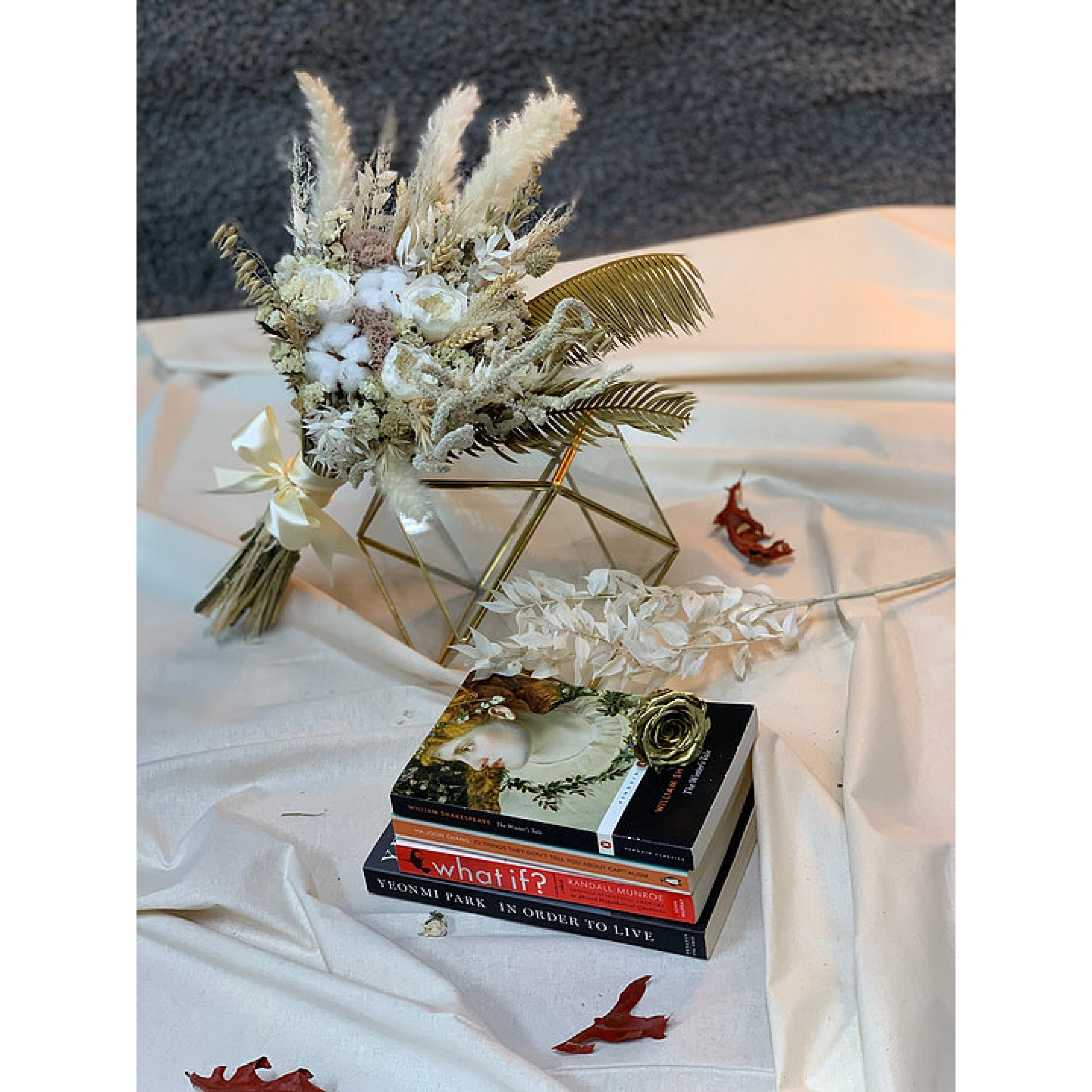 Dried And Preserved David Austin Bridal Bouquet
