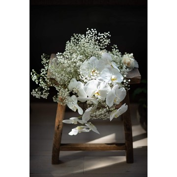 Baby's Breath and Phalaenopsis Bridal Bouquet