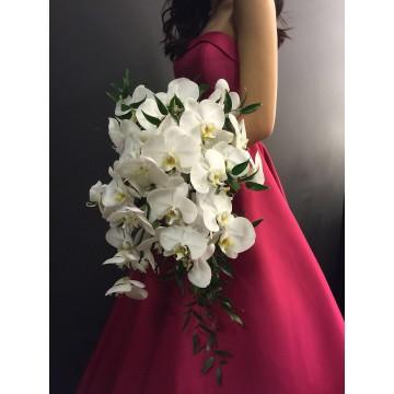 Phalaenopsis Cascading Bridal Bouquet