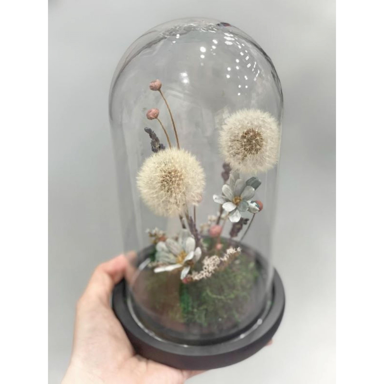 Preserved Dandelion Glass Dome