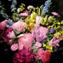 Double Petaled Lily and Delphinium Bouquet