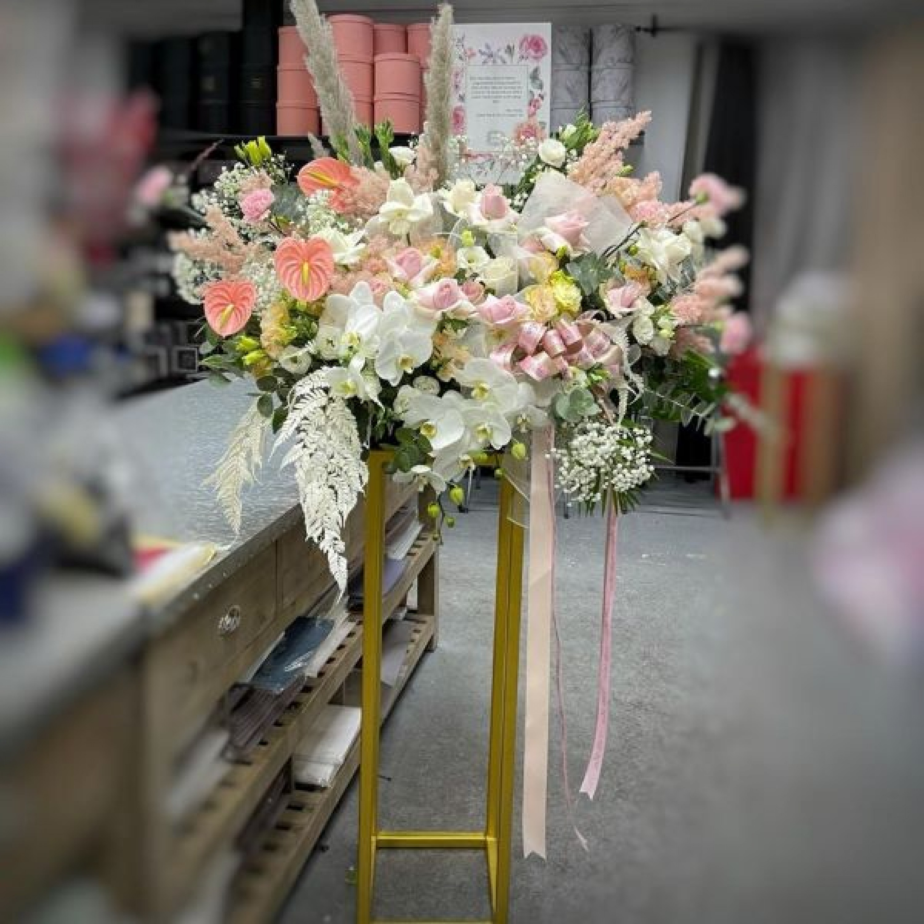 Fluttering Beauty Floral Stand