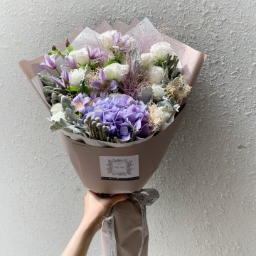 Lilac Hydrangea and Agaphantus Bouquet