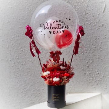 Valentine's Special Hot Air Balloon - Everlasting Flowers