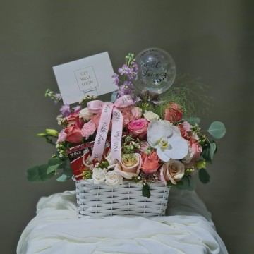 Get Well Soon Floral Basket