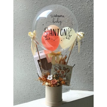 Hot Air Balloon - Giraffe Joy Gift Set