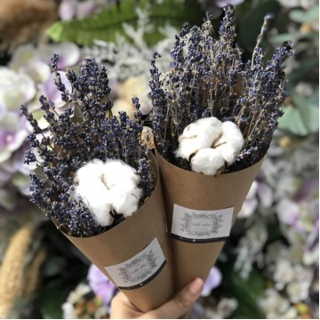 Cotton and Lavender Bouquet
