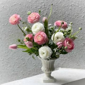 Ranunculus and Tulip Arrangement