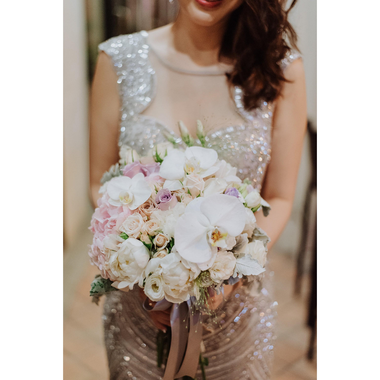 Pastel Phalaenopsis Bridal Bouquet