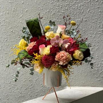 CNY Mimosa Vase Arrangement