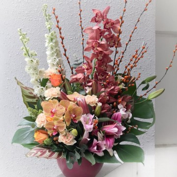 Cymbidium Vase Arrangement
