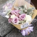 Ocean Song Roses with Dusty Miller