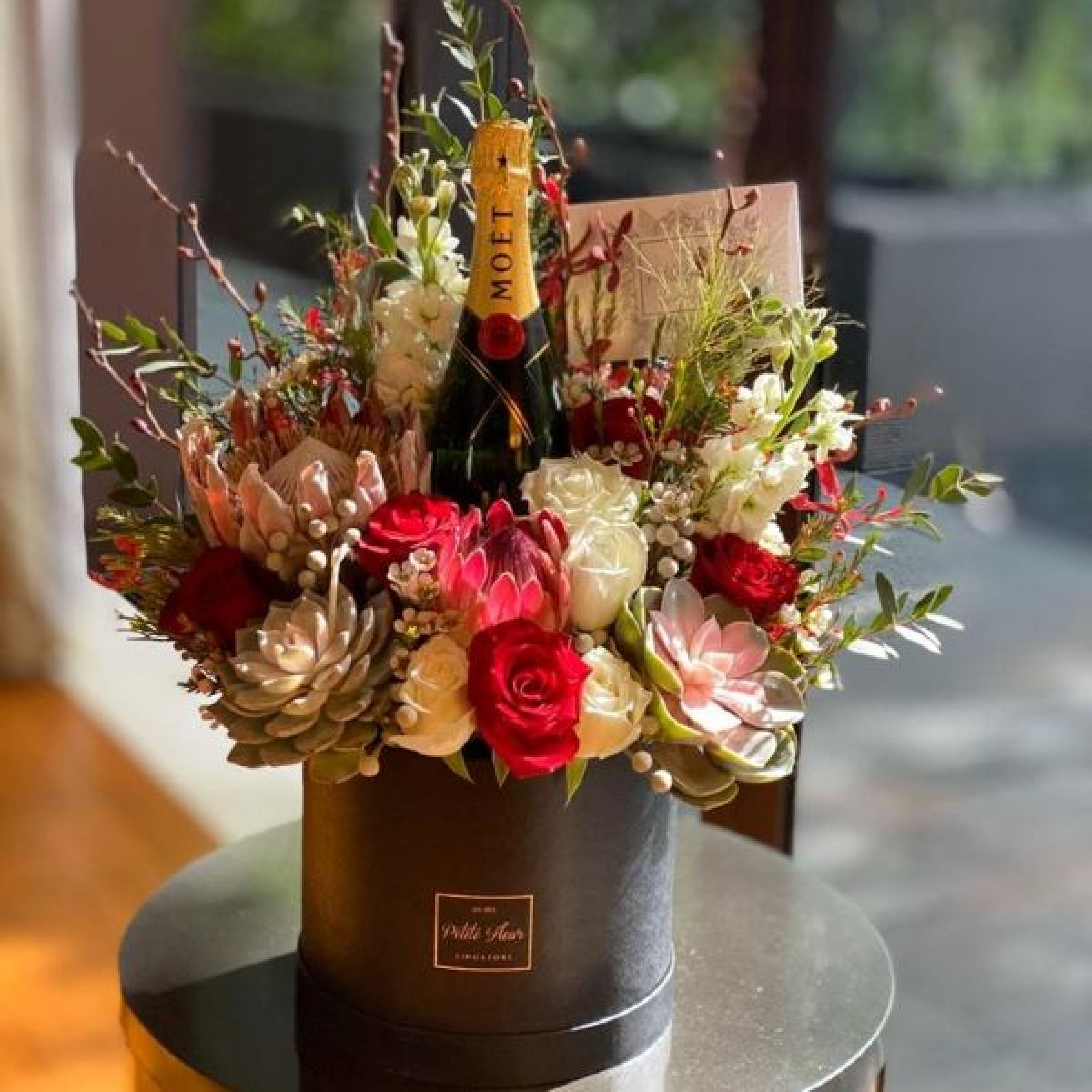 Queen of Hearts with Moet & Chandon Imperial
