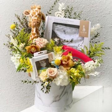 Sophie Le Giraffe Floral Box