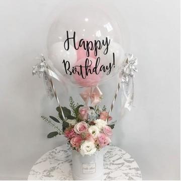 Hot Air Balloon - Fresh Flowers