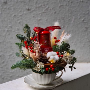 Joy Of Christmas Teacup