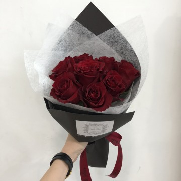 Only Roses Bouquet - 8 stalks