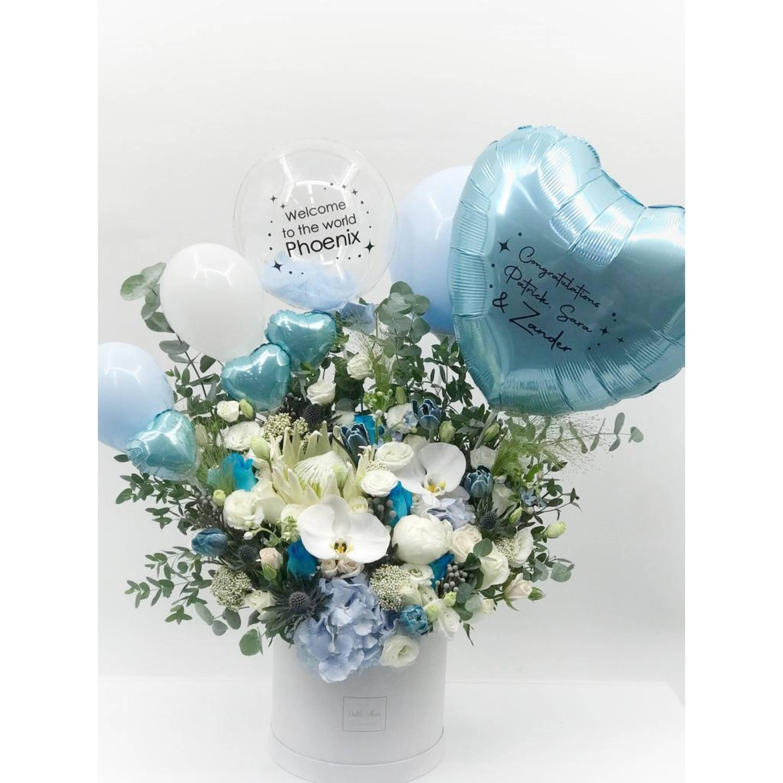 Blue Wonder Floral Box